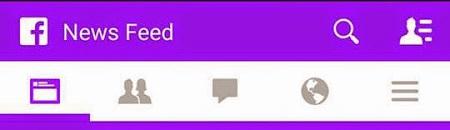 Facebook violet