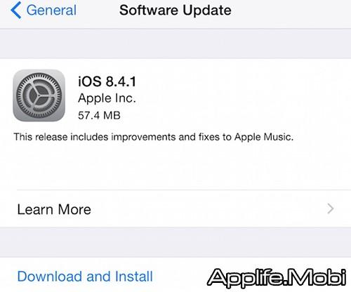 Update iOS 8.4.1
