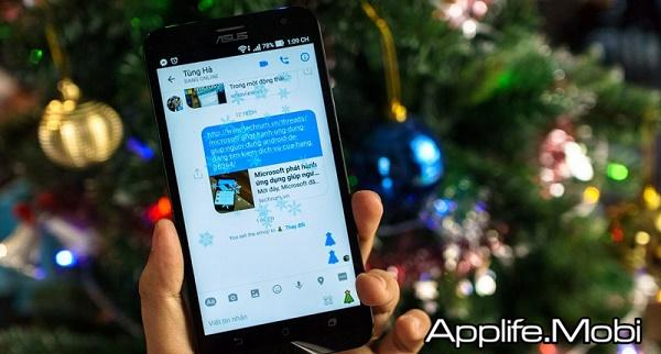 Tạo hiệu ứng tuyết rơi cho Facebook Messenger