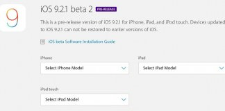 Apple phát hành iOS 9.2.1 beta 2