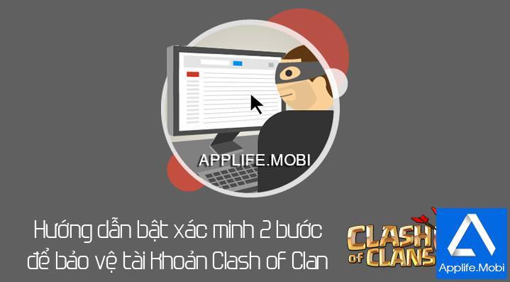 Bật xác minh 2 bước cho tài khoản Clash of Clan