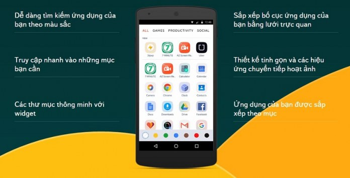 Yandex Launcher: Giao diện tùy biến cao cho Android