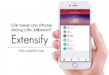 Extensify - Cài tweak cho iPhone không cần Jailbreak