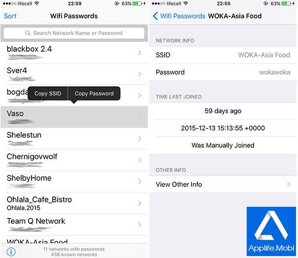 Sao lưu và liệt kê tất cả các mật khẩu, dữ liệu WiFi mà trước đó bạn đã lưu trên iOS