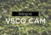 Cách đăng ký tài khoản VSCO