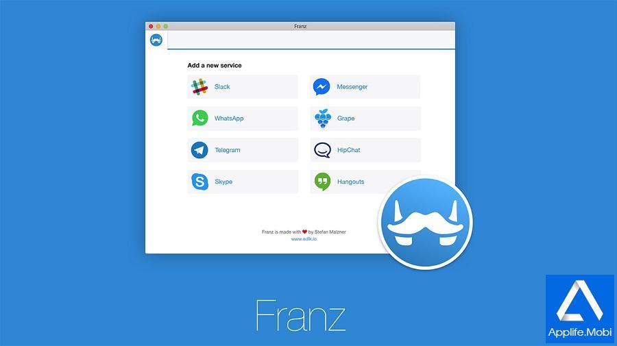 Franz - Ứng dụng Chat 14 mạng xã hội